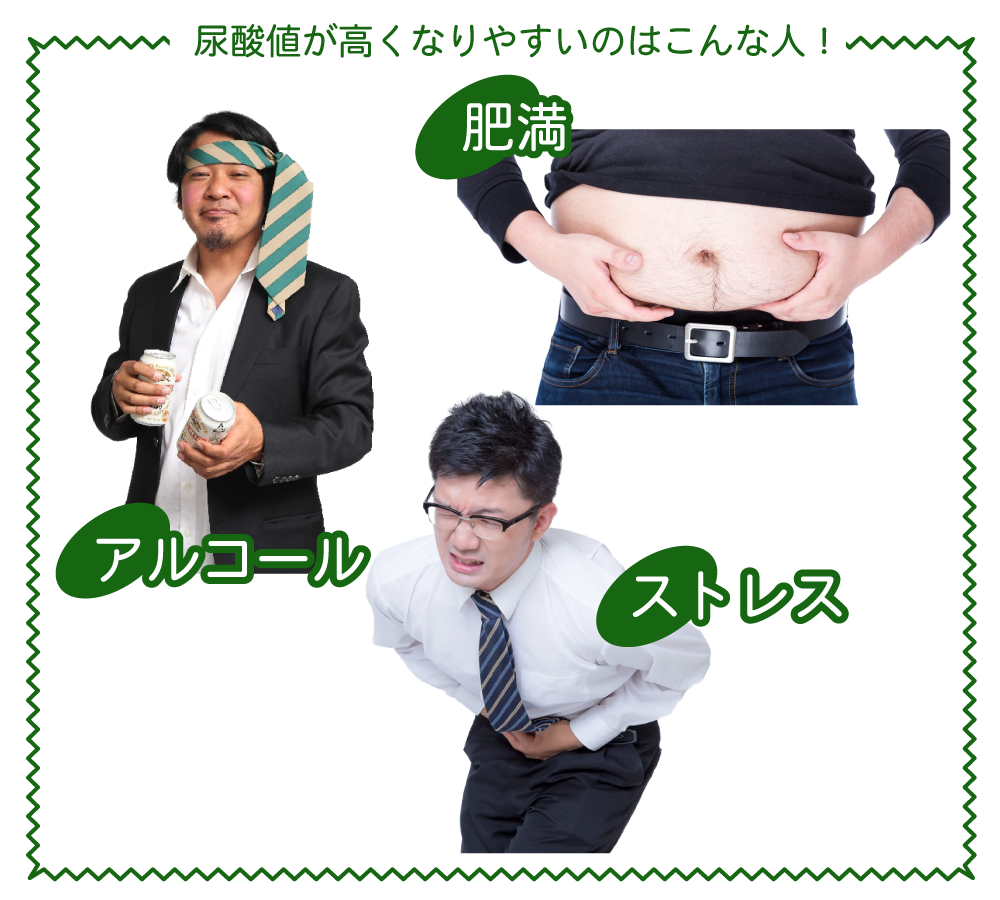 尿酸値高い人イメージ
